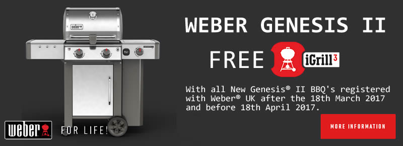 Free iGrill with Weber Genesis Barbecues