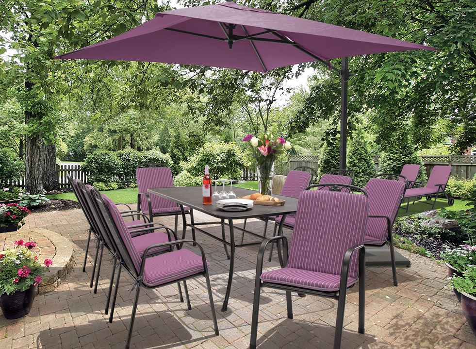kettler siena 8 seat set with amethyst cushions - Garden Furniture Kettler