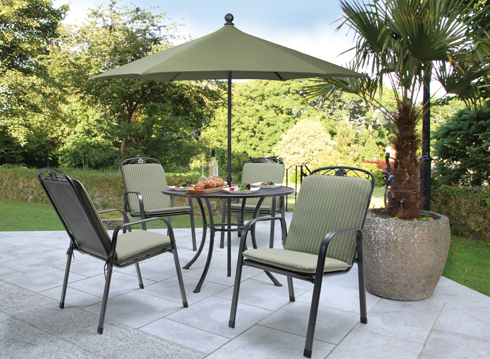 kettler siena 4 seat set with sage cushions kettler siena chair - Garden Furniture 4 Seater Sets