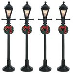 Gas Lantern Street Lamp - Set of 4